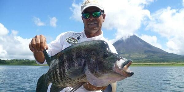 Fishing on Lake Arenal