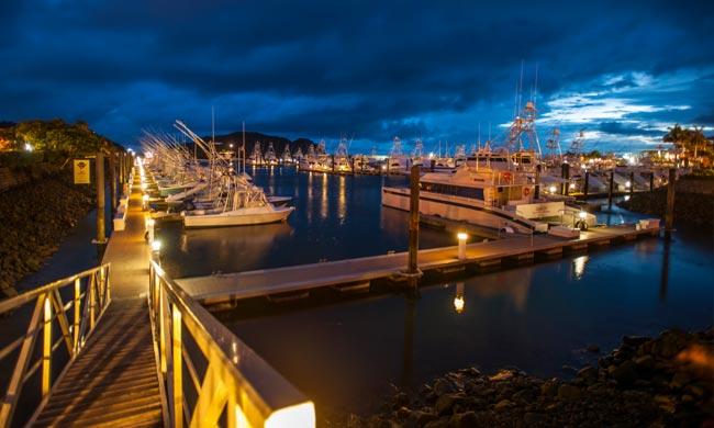 Marina at Night - Los Suenos Resort