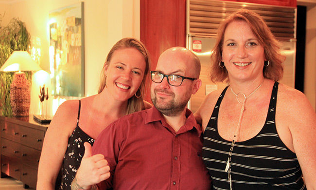 The CRV Staff having a good time. Shay, Adian & Joan