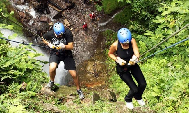 Waterfall Rapelling, Arenal Volcano