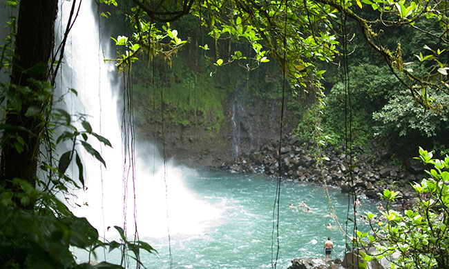 La Fortuna Waterfall hike in the rainforest, Costa Rica