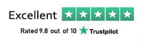 Rated 9.8 out of 10 based on 1,275 reviews on Trustpilot.com